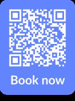 Scan code to book: drie streepjes links boven : boek les